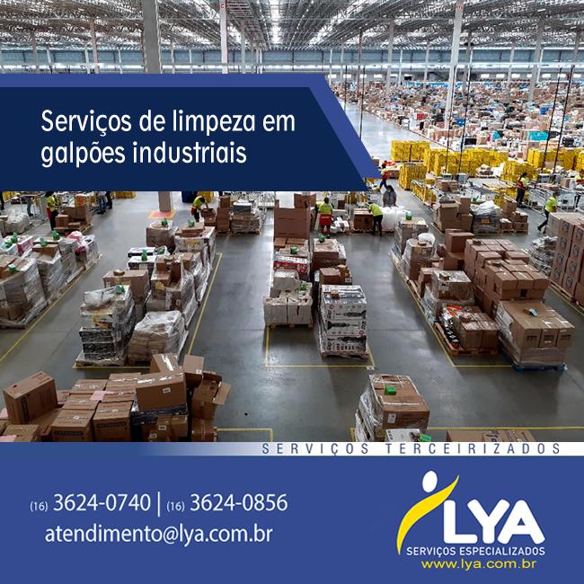 Serviços de limpeza em galpões industriais e de logística