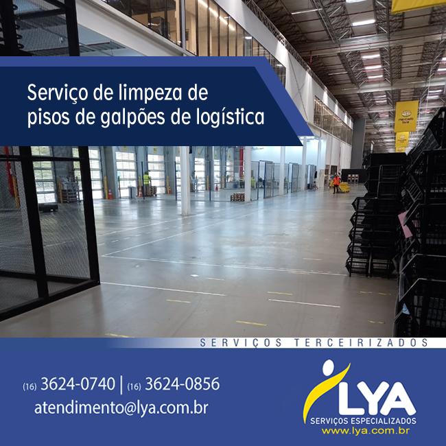 Limpeza de pisos de galpões de logística